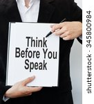 think before you speak | Shutterstock . vector #345800984