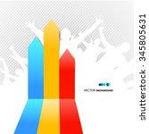 arrows for graphics | Shutterstock .eps vector #345805631