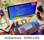 php programming html coding...   Shutterstock . vector #345811181