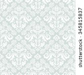 damask seamless light blue and... | Shutterstock .eps vector #345815837
