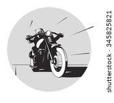 vector illustration of a biker... | Shutterstock .eps vector #345825821
