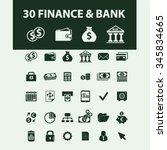 finance  bank  credit  savings  ... | Shutterstock .eps vector #345834665
