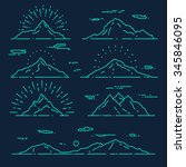 set of mountains  vector... | Shutterstock .eps vector #345846095