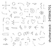 hand drawn simple arrows set... | Shutterstock .eps vector #345846701
