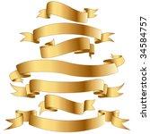 gold banners. | Shutterstock . vector #34584757