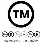trademark symbol | Shutterstock . vector #345848909