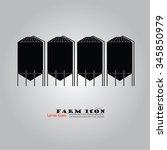 grain silo.silo.vector...