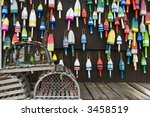 Lobster Traps And Colorful...