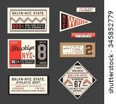 vintage labels athletic sport... | Shutterstock .eps vector #345852779