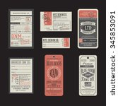 vintage denim typography  t...   Shutterstock .eps vector #345853091