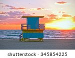 sunrise in miami beach florida  ... | Shutterstock . vector #345854225