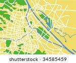 vector map of vienna. | Shutterstock .eps vector #34585459