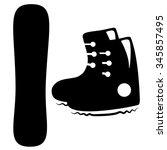 snowboard icon. vector...   Shutterstock .eps vector #345857495