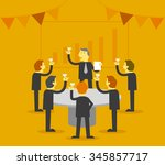 business party | Shutterstock .eps vector #345857717