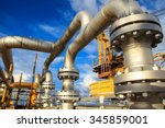 offshore the industry oil and... | Shutterstock . vector #345859001