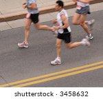 marathon runners. canada. | Shutterstock . vector #3458632