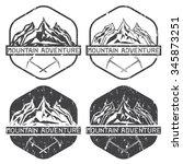 set of vintage grunge labels... | Shutterstock .eps vector #345873251