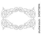 vintage baroque frame scroll... | Shutterstock .eps vector #345875894