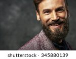 bearded man with a very... | Shutterstock . vector #345880139