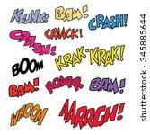 comic like short phrases sound... | Shutterstock .eps vector #345885644