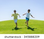 happy summer vacation for kids... | Shutterstock . vector #345888209