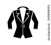 jacket icon vector art eps... | Shutterstock .eps vector #345898991