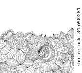 abstract zentangle invitation... | Shutterstock .eps vector #345900281