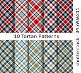set of ten tartan patterns | Shutterstock .eps vector #345906215