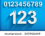 modern hanging numbers with... | Shutterstock .eps vector #345906449