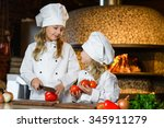 funny happy chef girls cooking...