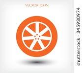 wheel icon | Shutterstock .eps vector #345930974
