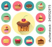 confectionery set of isolated... | Shutterstock .eps vector #345932975