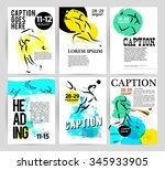 vector hand drawn athlete card...   Shutterstock .eps vector #345933905