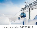 Cable Car On The Ski Resort....