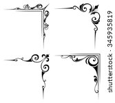 Vector Set Of Four Calligraphi...