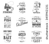 set of vintage fishing... | Shutterstock .eps vector #345942131
