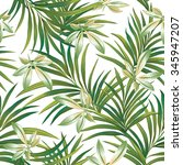 tropical seamless print with... | Shutterstock .eps vector #345947207