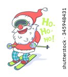 funny cute hipster santa claus... | Shutterstock .eps vector #345948431