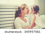 happy loving family. mother and ... | Shutterstock . vector #345957581