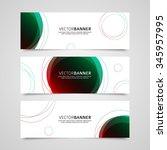 set of vector banners design... | Shutterstock .eps vector #345957995