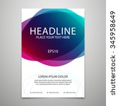 vector brochure cover design... | Shutterstock .eps vector #345958649