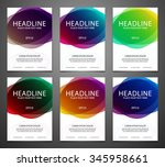 set of vector brochure flyer... | Shutterstock .eps vector #345958661