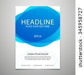 vector brochure cover design... | Shutterstock .eps vector #345958727