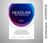 vector brochure flyer design... | Shutterstock .eps vector #345959135