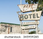 another abandoned motel sign ... | Shutterstock . vector #345959285