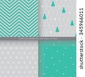 seamless geometric christmas... | Shutterstock .eps vector #345966011