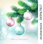 christmas background with fir... | Shutterstock .eps vector #345967817