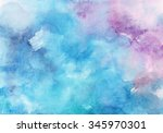 Watercolor Wet Background. Blu...