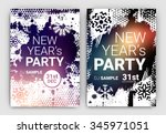 poster set for new year's eve... | Shutterstock .eps vector #345971051