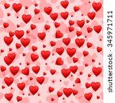 red heart seamless pattern... | Shutterstock .eps vector #345971711